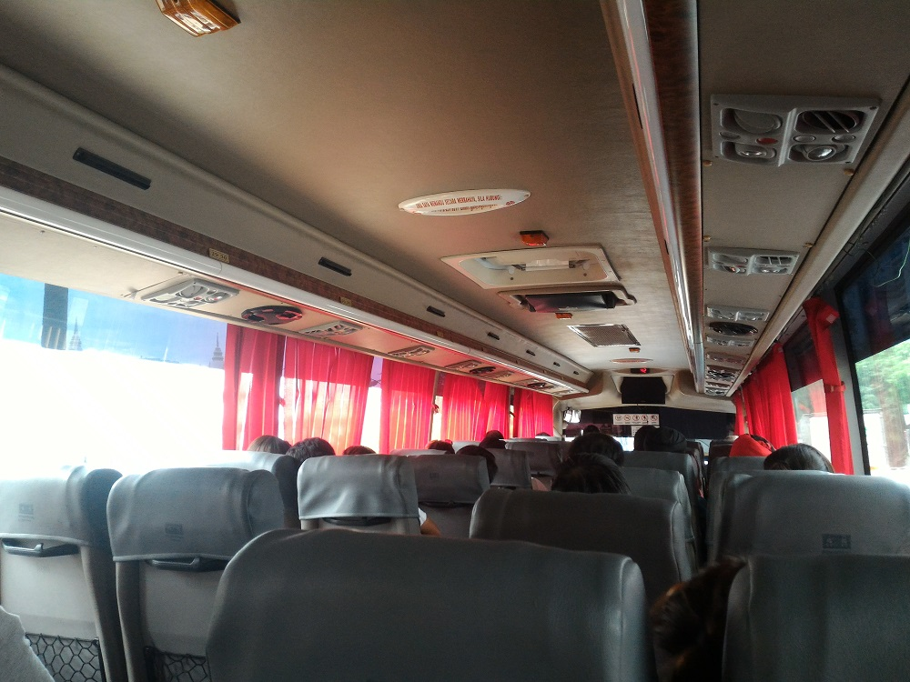 inside of the express bus