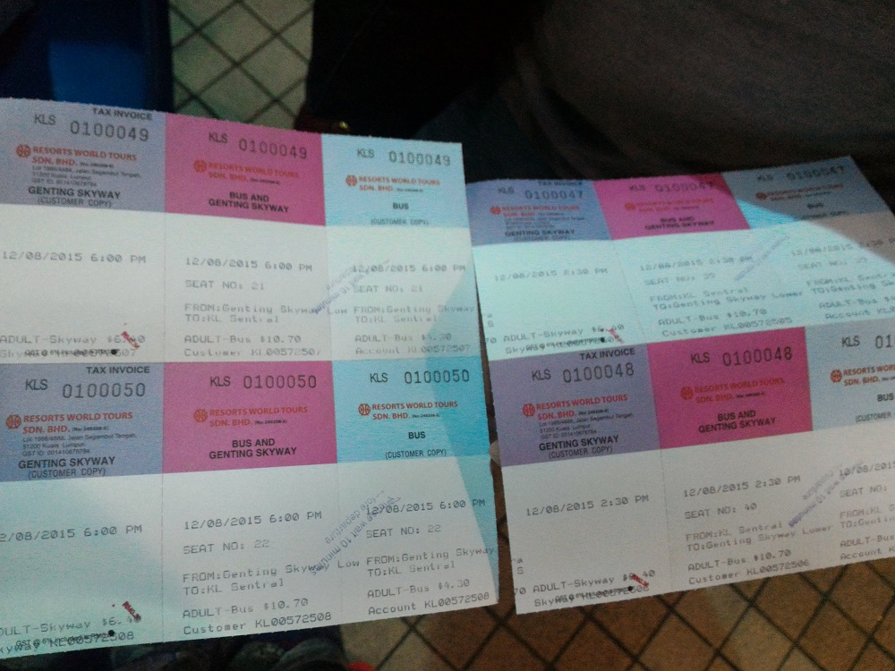 bus ticket to genting skyway